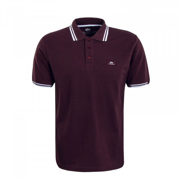 Alpha Polo Twin Deep Maroon White