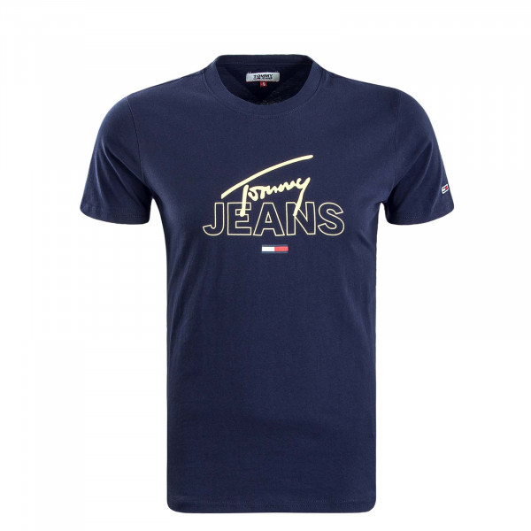 Herren T-Shirt 7011 Navy Yellow