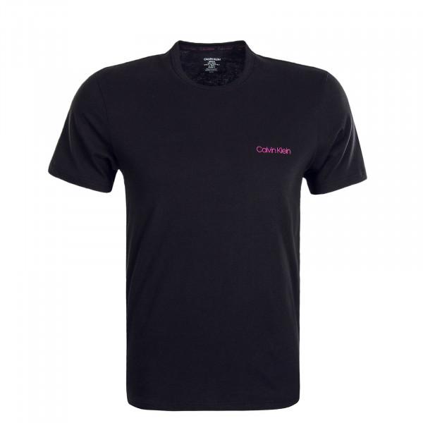 Herren T-Shirt Crew 1586 Black Pink