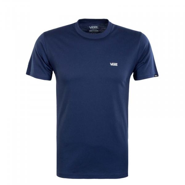 Herren T-Shirt - Left Chest Logo - Blue / White