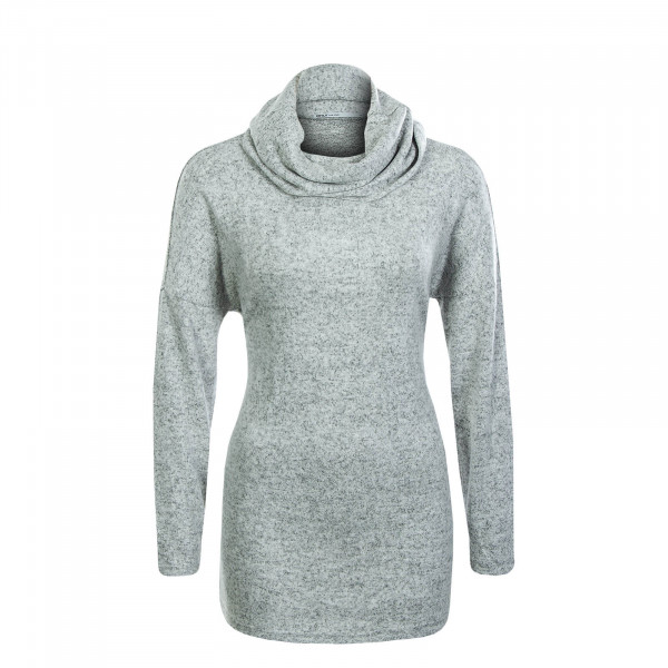Damen Knit Rollneck Kleo Light Grey