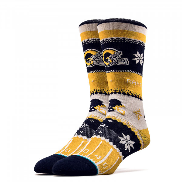 Socken NFL Rams Holiday Yellow Black