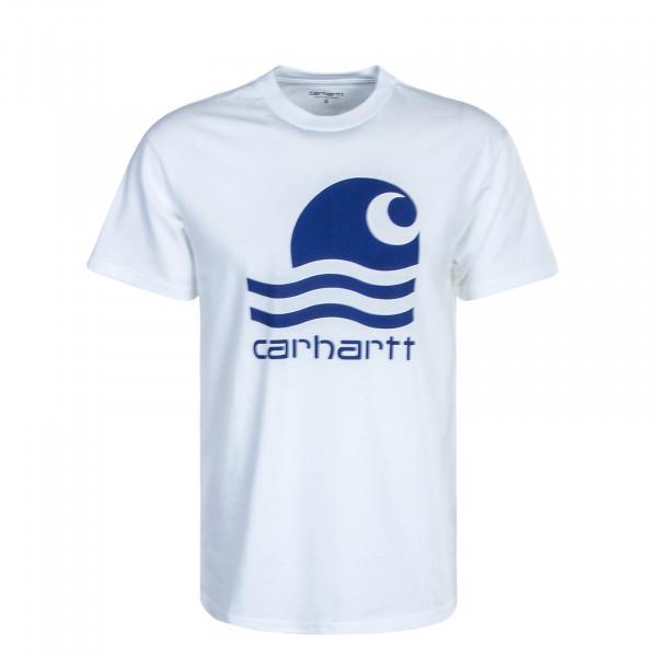 Herren T-Shirt Swim White Marine