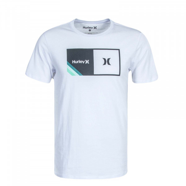 Herren T-Shirt Halfer Stripe White