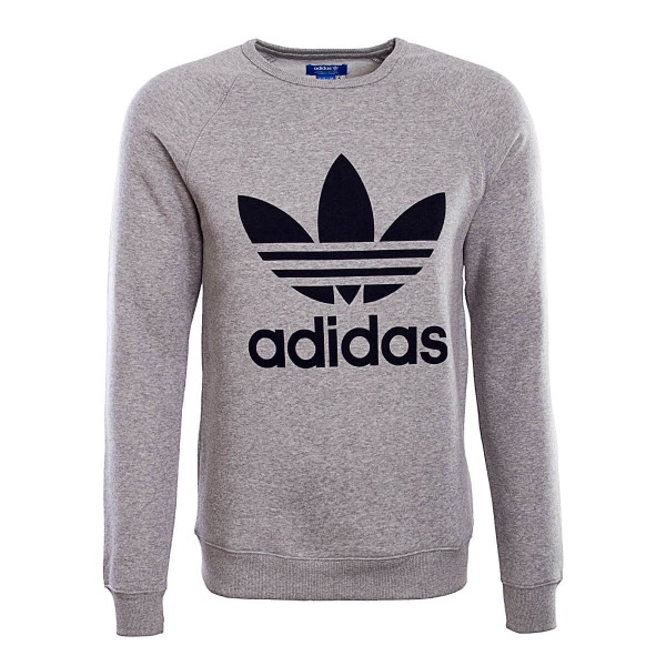 Adidas Sweat Trefoil Crew Grey Black