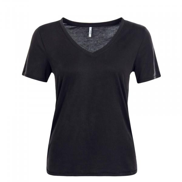 Damen T-Shirt Free Life Black