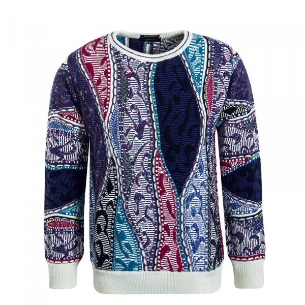 Herren Knit C10601 Blue Lila