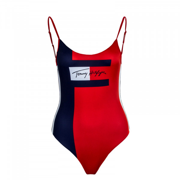 Damen Badeanzug One Piece 2183 Navy Red White