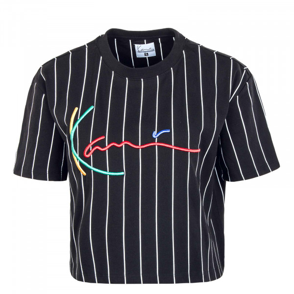 Damen T-Shirt - Signature Pinstripe - Black