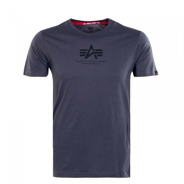 Herren T-Shirt - Basic ML - Grey / Black / Black