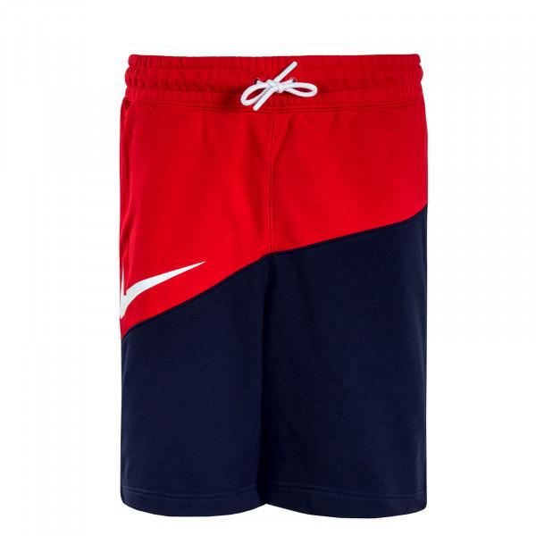 Herren Jogging Short Swoosh Red Navy