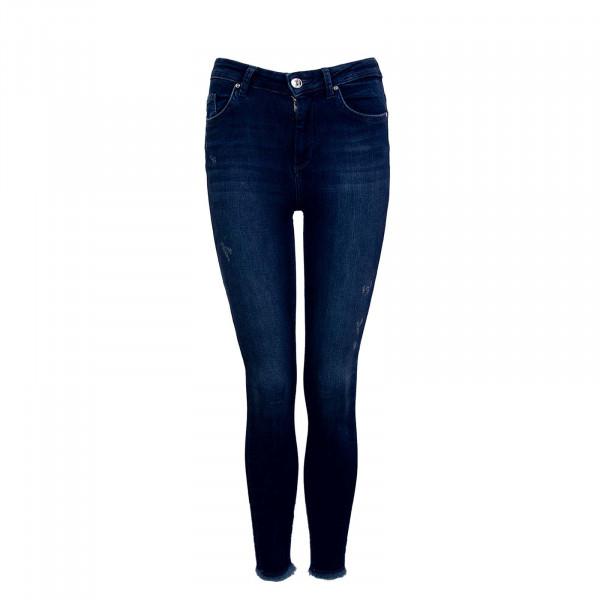 Damen Hose - Blush Life Mid Ankle Raw - Dark Blue