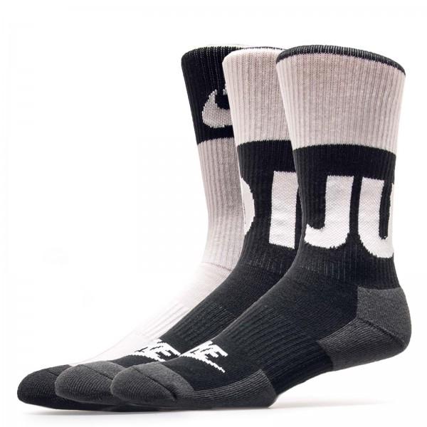 Nike Socks 2Pack Crew White Black