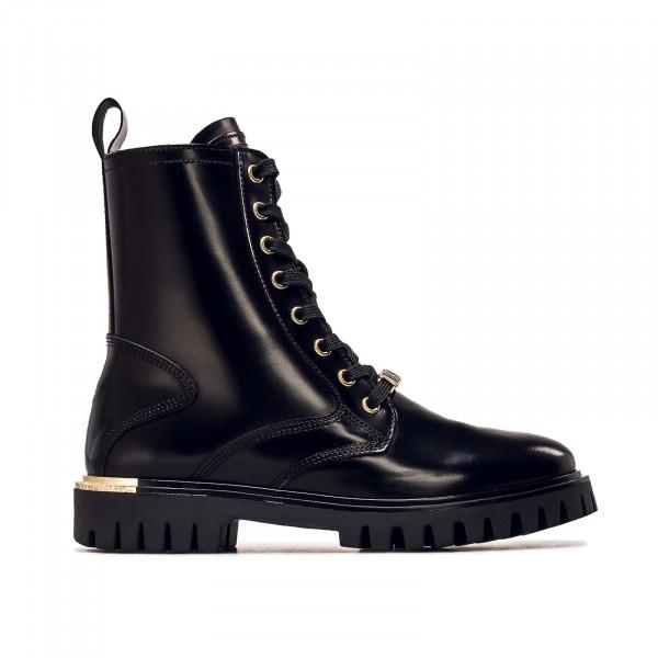 Damen Stiefel - Polished Leather Lace Up - Black