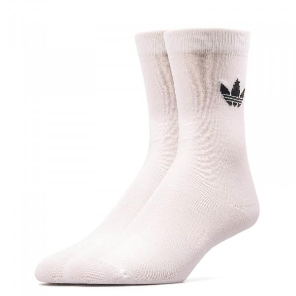 Adidas Socks 2Pk Thin Tref White Black