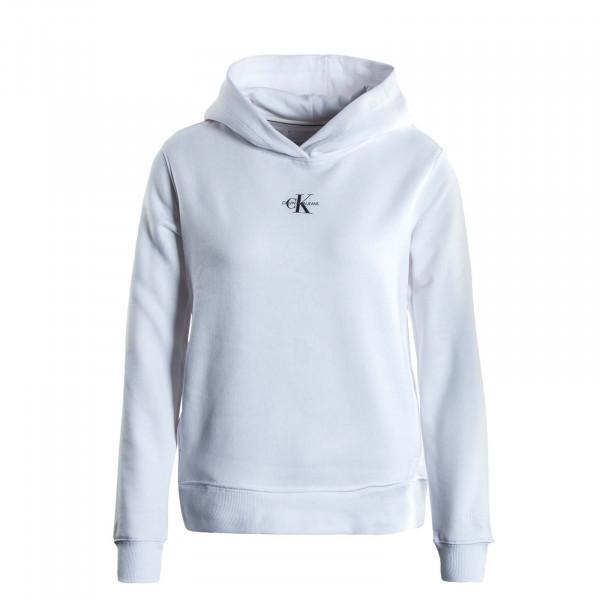 Damen Hoody - Mirco Monogram - White