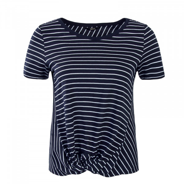 Damen T-Shirt Jamie Knot Stripe Blue White