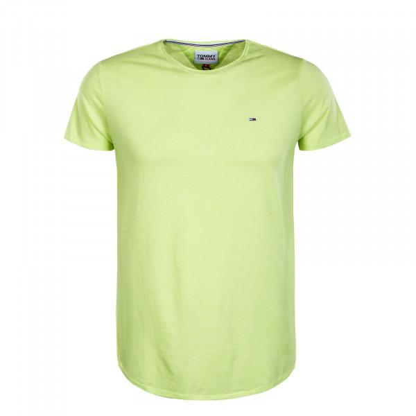 Herren T-Shirt - Slim Jaspe Tee - Faded Lime