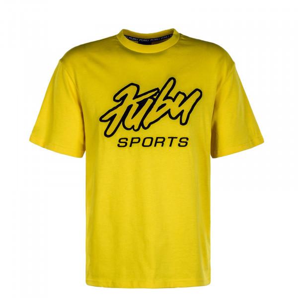 Herren T-Shirt Sports Yellow Black