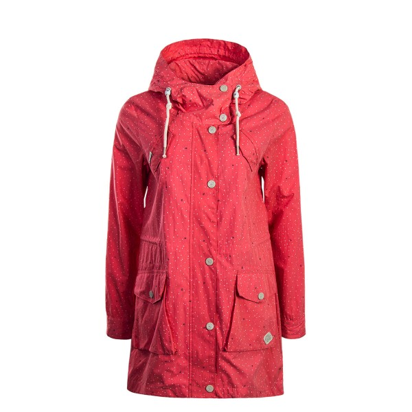 Damen Jacke Clancy Dots Coral