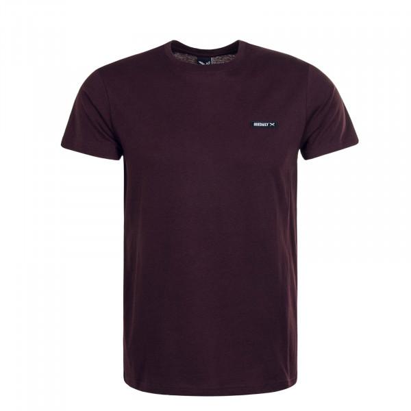 Herren T-Shirt Served Flag Bordeaux