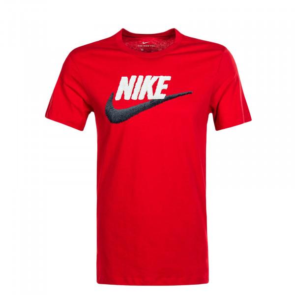 Herren T-Shirt Brand Mark Red Black