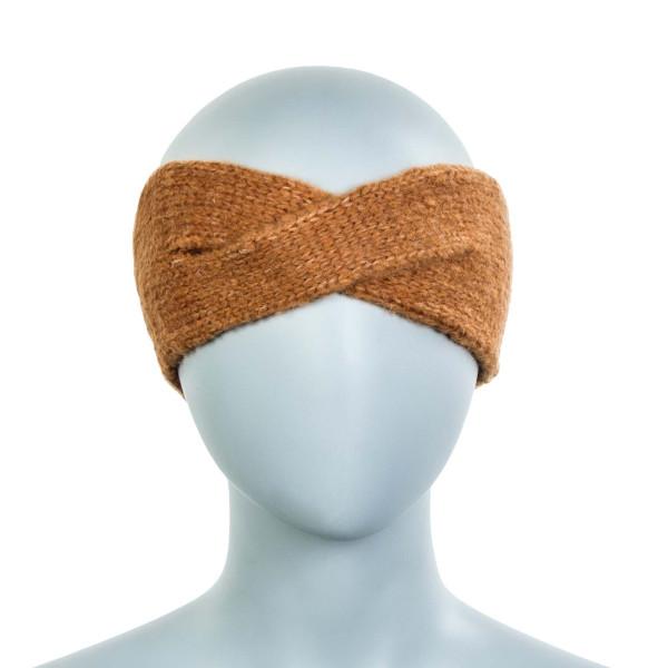 Damen Stirnband Cindy Wool Cashew Brown