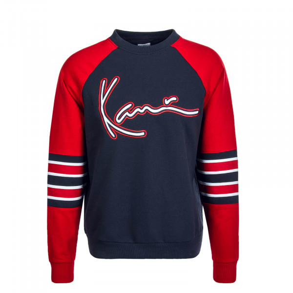Herren Sweat Signature Block Navy Red White
