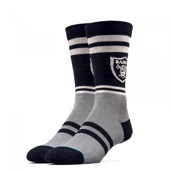 Socken - NFL Raiders Logo - Black Grey