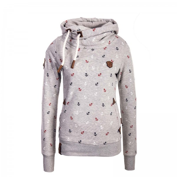 Naketano Wmn Hoody Guts over Fear Grey