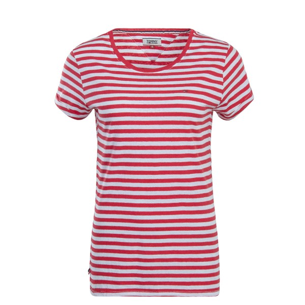 Tommy Wmn TS TJW Linen Blend Red White