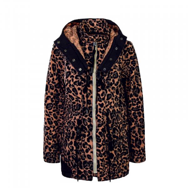 Mantel Iseult Leopard Rosa Black
