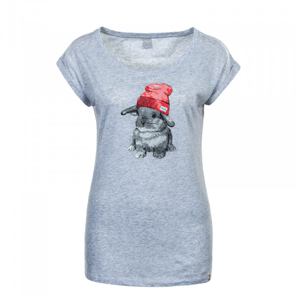 Damen T-Shirt It Hasi Grey Melange