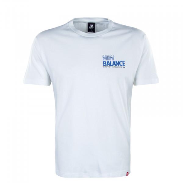 Herren T-Shirt MT03511 Essentials Speeder White