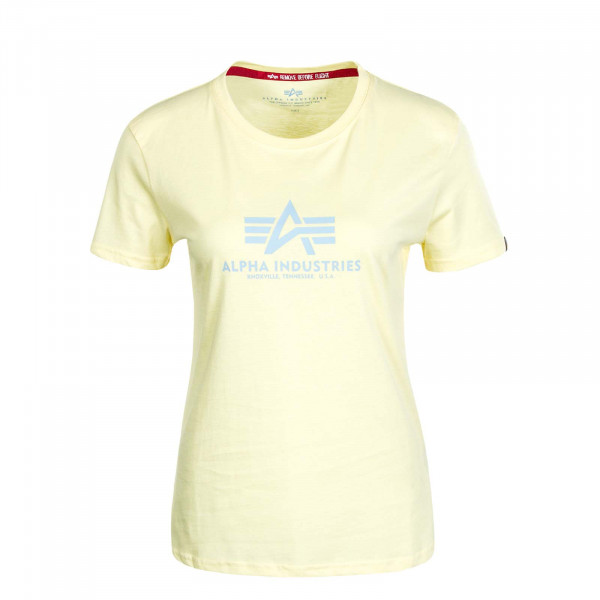 Damen T-Shirt New Basic Pastel Yellow