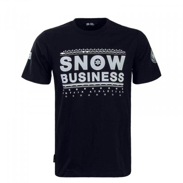 Unfair TS Snow Business Black White