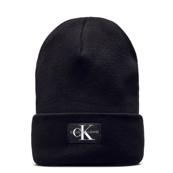 CK Beanie Monogram Black White