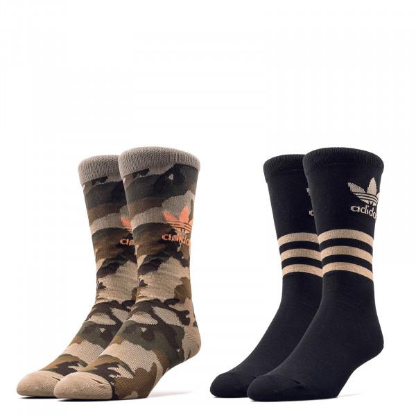 Socken Camouflage Crew Hemp Black
