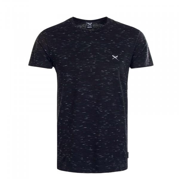 Herren T-Shirt  Minimash Black Melange