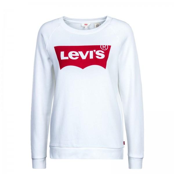 Levis Wmn Sweat Graphic Crew White Red