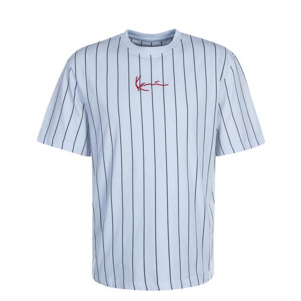 Herren T-Shirt Small Signature Pinstripe White Black