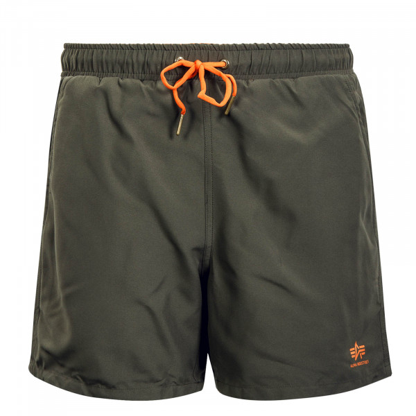 Herren Boardshort Basic Dark Olive