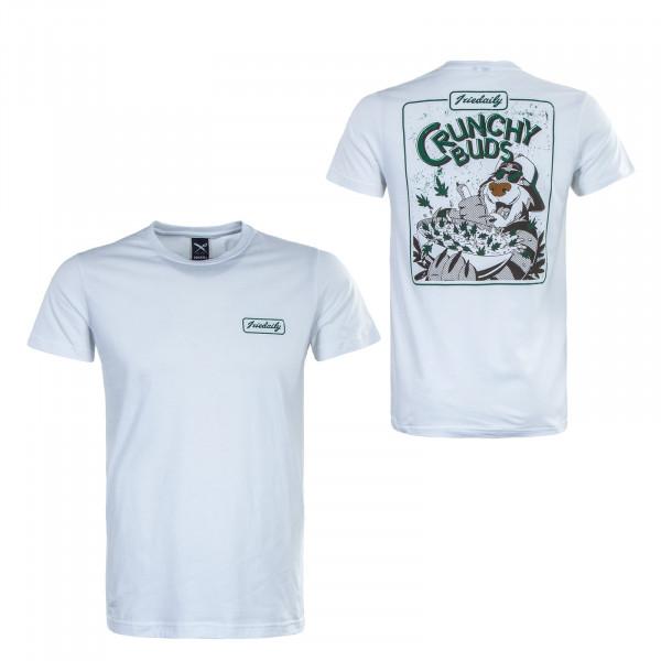 Herren T-Shirt - Crunchy Buds - White