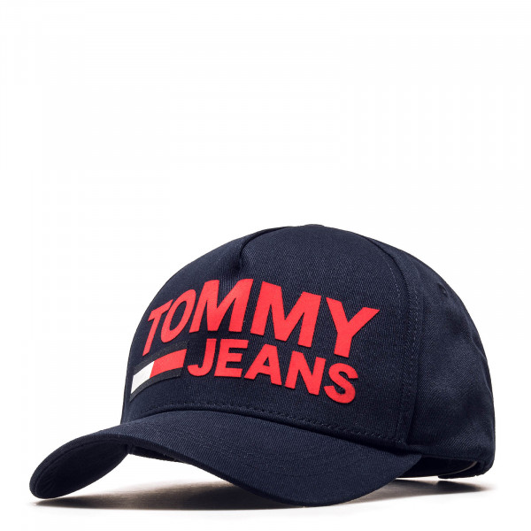Tommy Cap Flock Print Navy Red