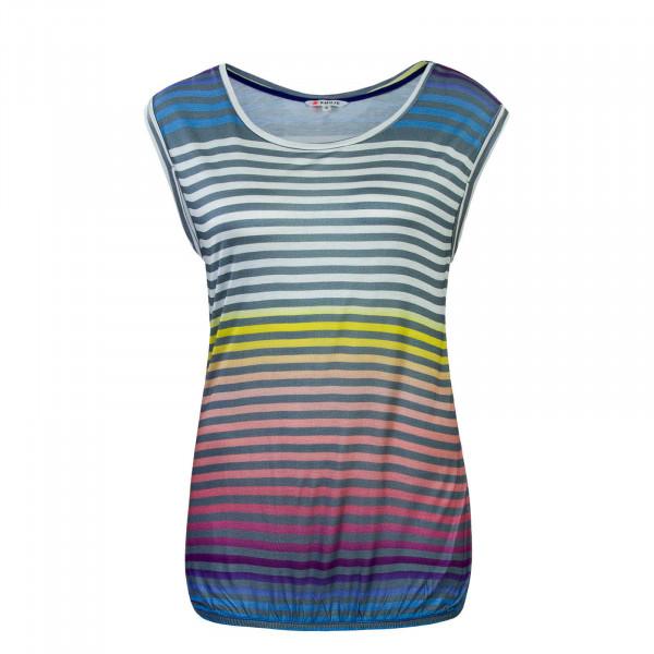 T-Shirt Pique Print Rainbow Stripe