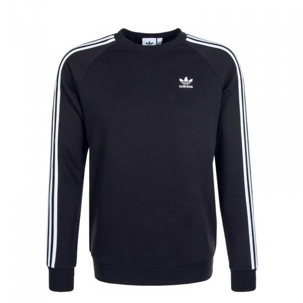Herren Pullover 3 Stripes Crewneck Sweat Black