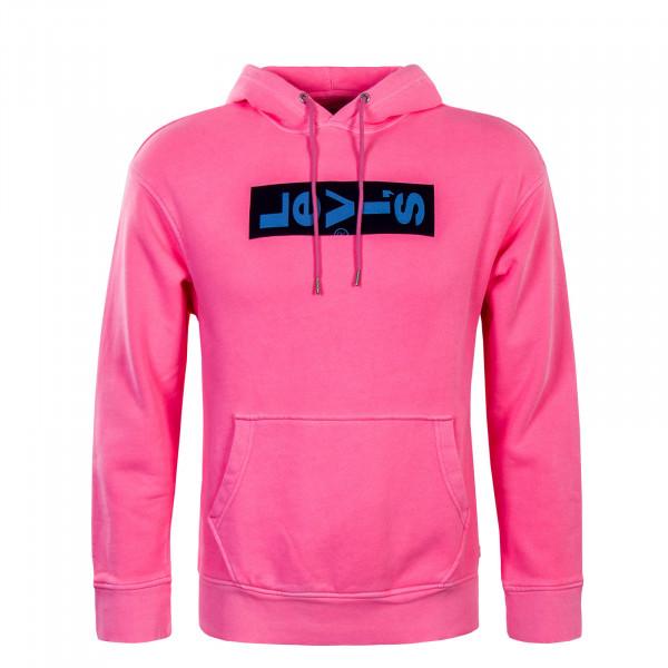 Herren Hoody Graphic Oversized Neon Pink