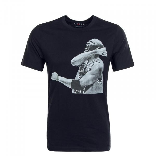 Herren T-Shirt Photo Crew Ball Black