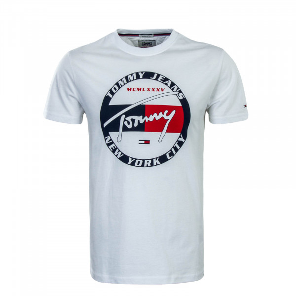 Herren T-Shirt Circle Graphic White
