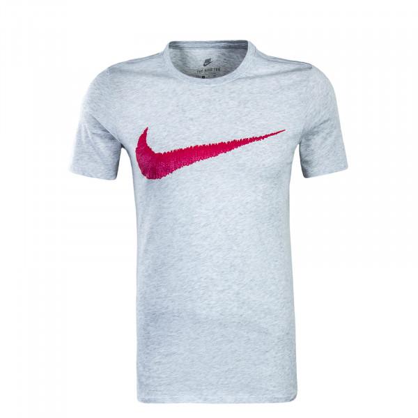 Herren T-Shirt Hangtag Swoosh Grey Red